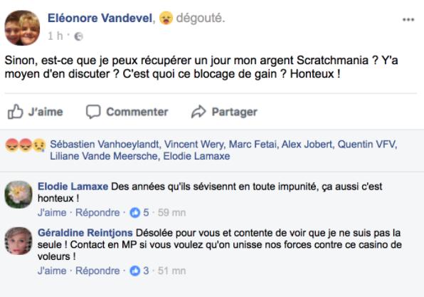 Scratchmania avis casino 2020 commentaires facebook