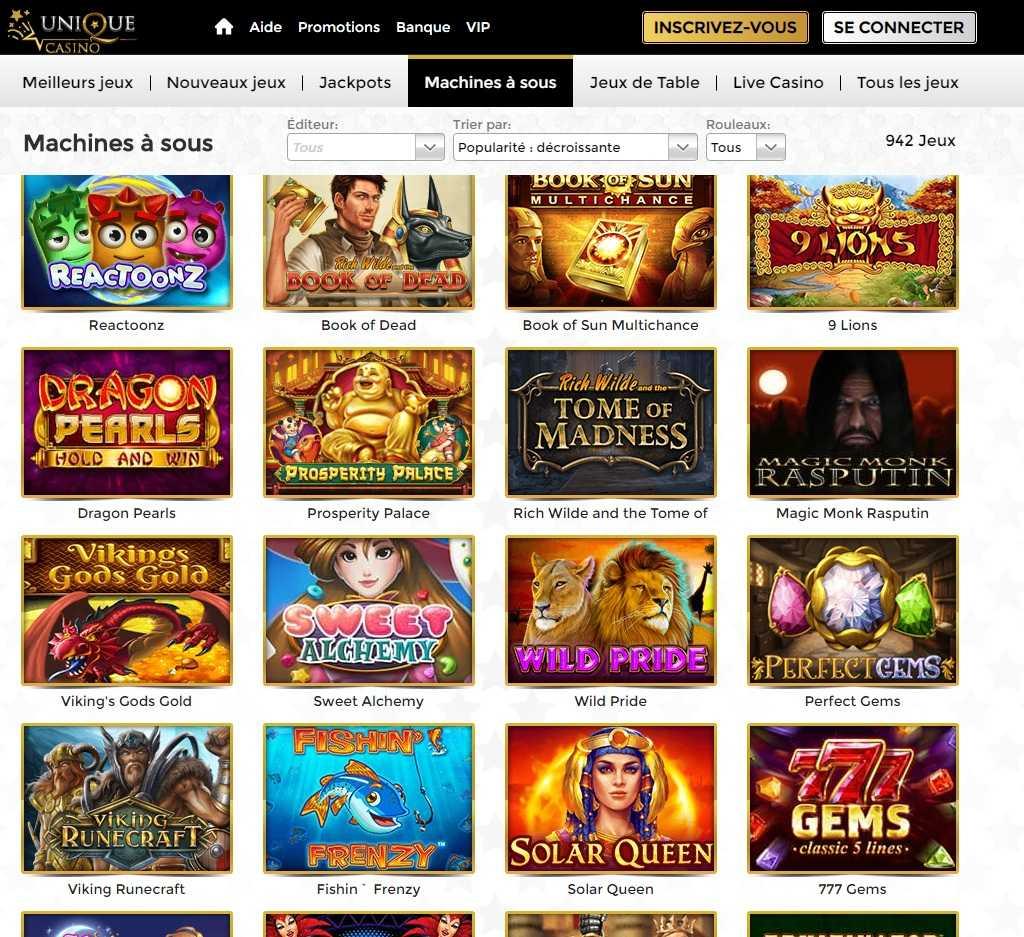 avis casino unique