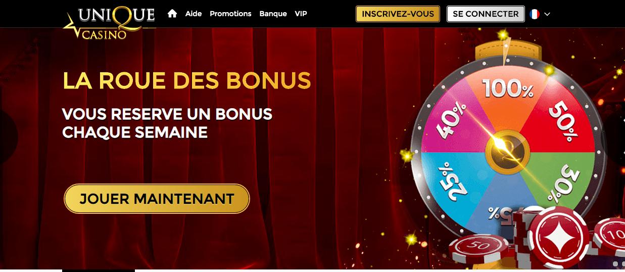 roue des bonus unique casino