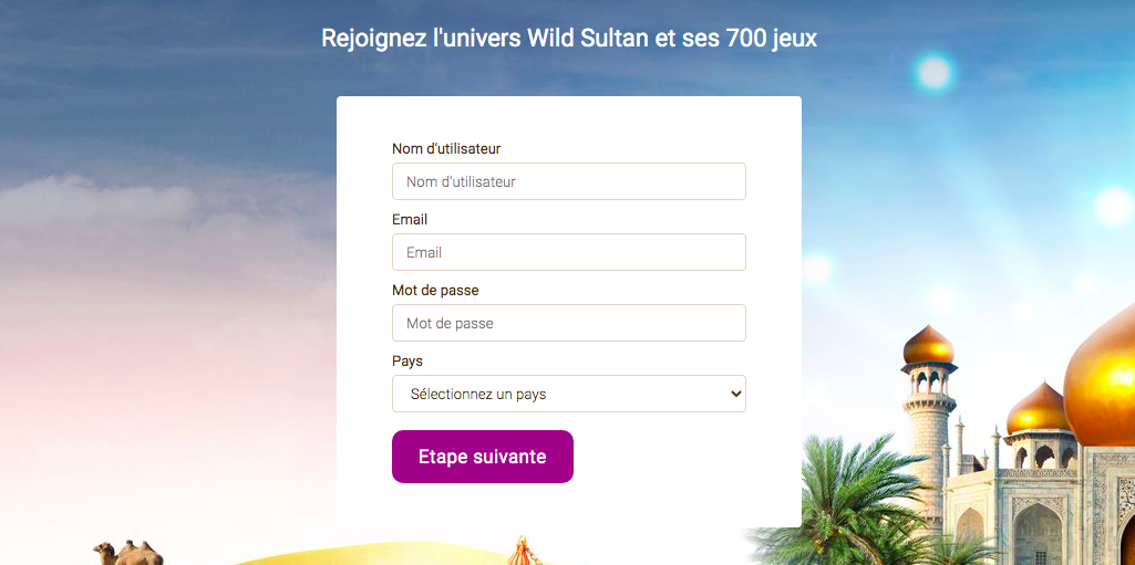 inscription wild sultan