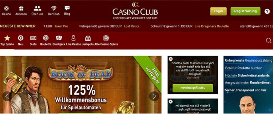 avis casino club